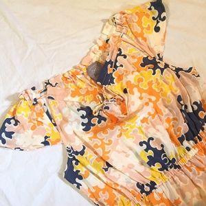 Vanessa Virginia Colorful Silk Dress